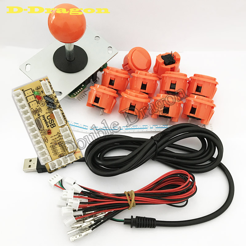 Arcade Joystick DIY Kit Zero Delay Arcade Kit USB Encoder To PC Arcade Copy Sanwa Joystick Push Buttons For Arcade Mame 40%off