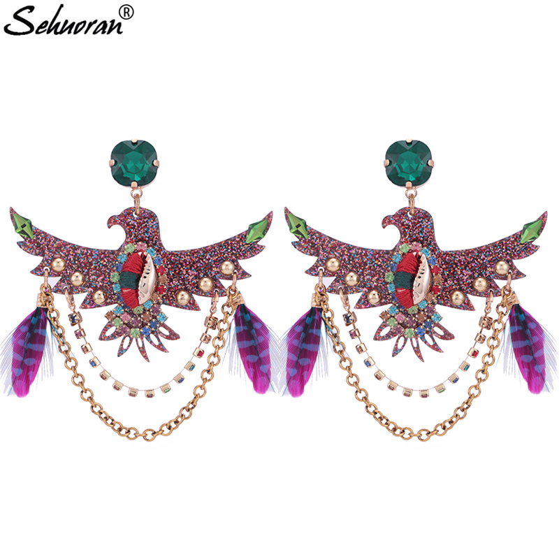 Sehuoran Brincos Oorbellen Tassel Earrings For Woman Boho Wedding Earrings Statement Earrings Resin Eagle Pendients Earrings шины goodyear ultra grip ice arctic 215 55 r17 98t