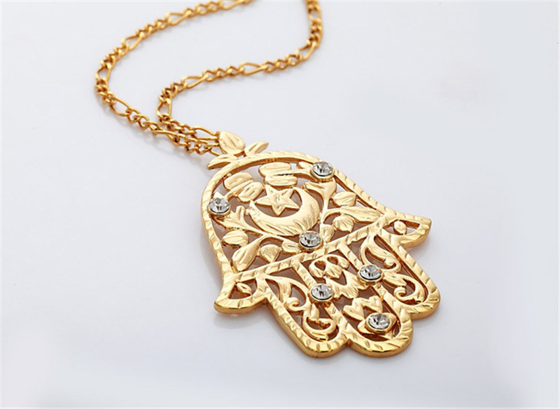 U7 big hamsa hand pendant womenmen lucky jewelry gift trendy gold u7 big hamsa hand pendant womenmen lucky jewelry gift trendy gold color rhinestone hand of fatima pendant necklaces p313 in pendant necklaces from jewelry aloadofball Gallery