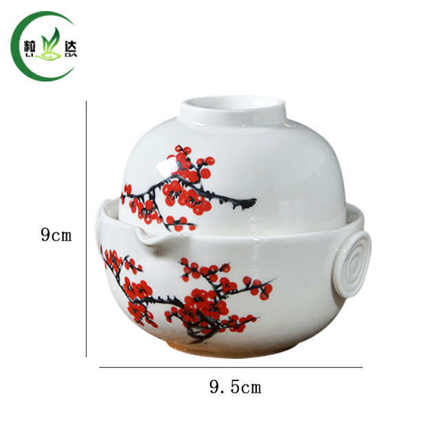 1 Tea Pot +1 Cup High Quality Gai wan Ceramic Teapot Kettle Tea Set