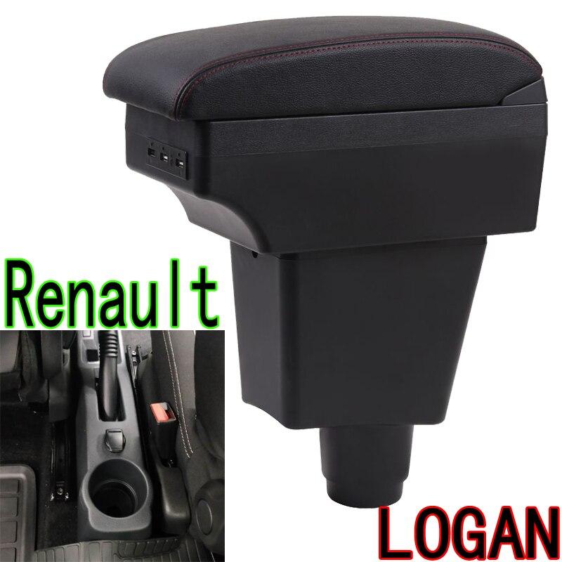 Para renault logan 2 caixa de braço logan 2 universal carro apoio braço central caixa armazenamento modificação acessórios