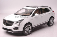 * White 1/18 Cadillac XT5 2016 Luxury SUV Diecast Model Car Limited Edition Brinquedos Off Road Automobile