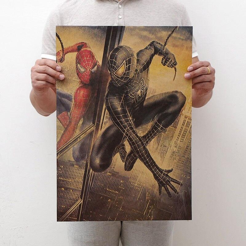 Mling 1 шт., 51,5x36 см, постер из серии Marvel, Мстители, война бесконечности, Ретро плакат, наклейки на стену для гостиной, украшение для дома - Цвет: H20