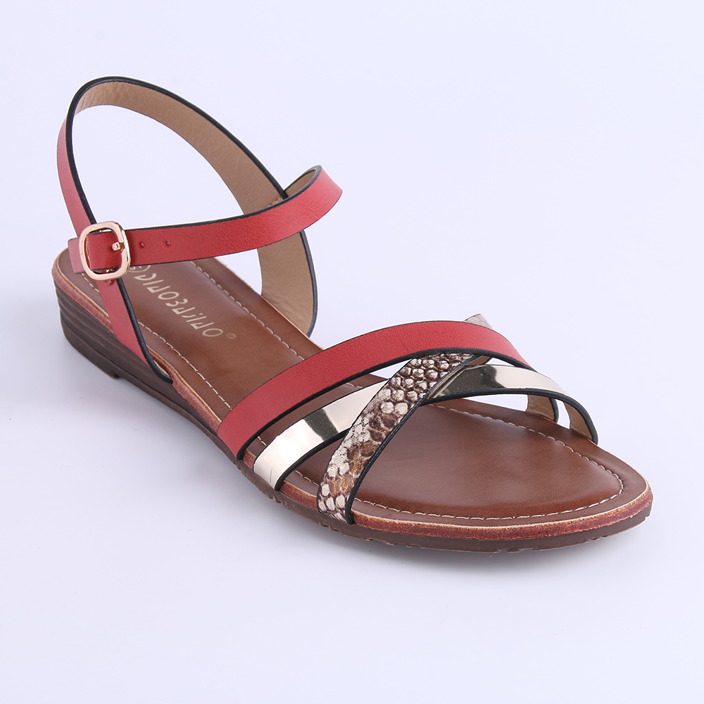 65eafc042 HEYIYI Shoes Ladies Flat Sandals White Brown Red Summer Beach Open Toes  Large Size Classic Shoes