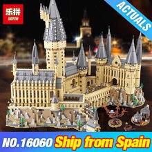 DHL LePin 16060 Гарри, кино Поттер 71043 Замок Хогвартс Волшебная школа модель строительные блоки кирпичи DIY игрушки для детей Подарки