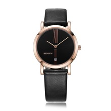 BINLUN Rose Gold Sliver His and Hers Gifts Lovers Watches Automatic quartz watches Men Women Ultra Thin Waterproof Simple style