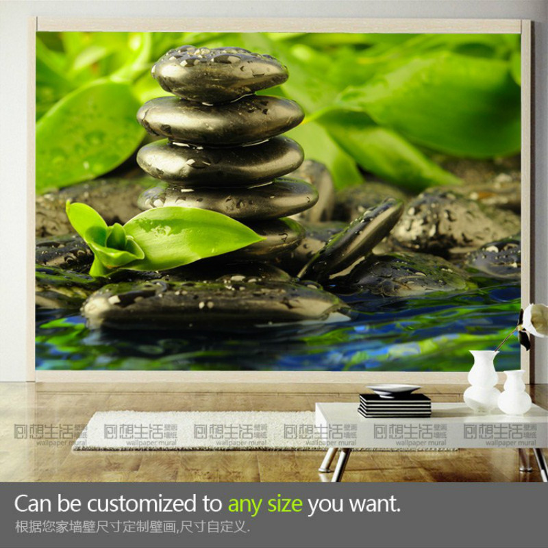 Mural The living room TV background 3D wallpaper green landscape three-dimensional large murals 3D TV wall/yoga hall murals landscape photo frame of the living room of the paris tv tower living tv background wallpaper wallpaper wall canvas
