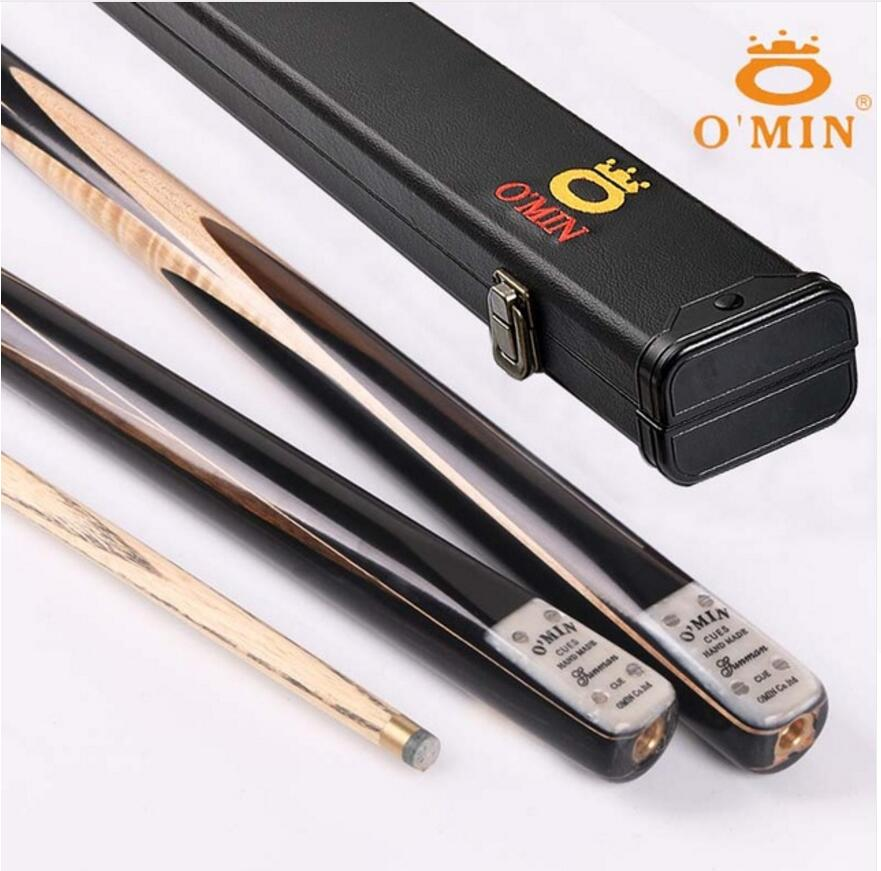 O'MIN Gunman One Piece Billiards Snooker Cue 9.5mm 10mm Tip With Snooker Cue Case Handmade Professional Billiard Stick Kit China