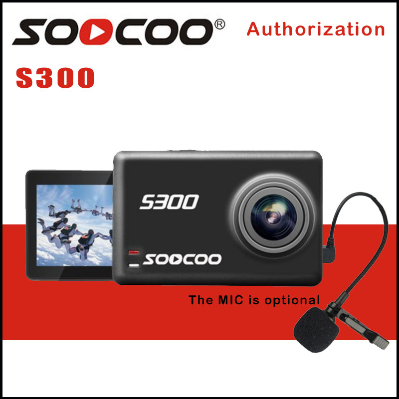 "SOOCOO S300 Action Camera EIS Image Stabilization Sport Cam 4K 30FPS 2.35"" Touchscreen Hi3559V100 IMX377 Wifi External Mic GPS"