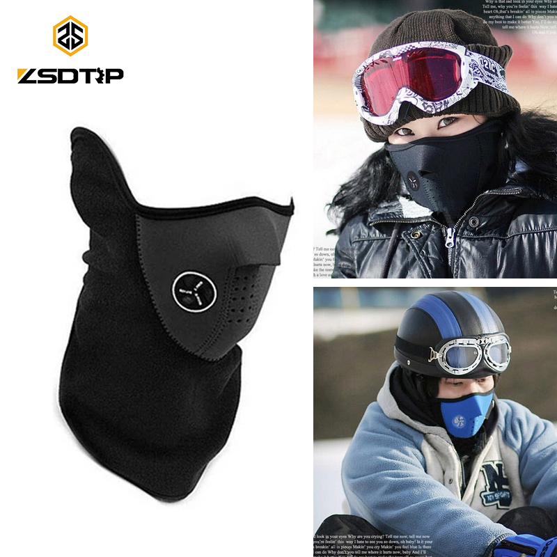 ZSDTRP Universal Motorcycle Neck Ski Snowboard Bike Warm Face Mask For Winter Men Kids Women Camo Half Running Cool Masks