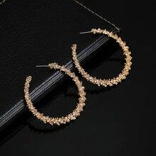 Pendientes de aro de Color plateado dorado Simple redondo hueco moda personalizada oreja joyería regalo para boda fiesta Kupe