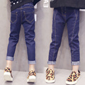 2017 spring new Korean ladies style female child jeans child loose skinny pants trousers child girl jeans