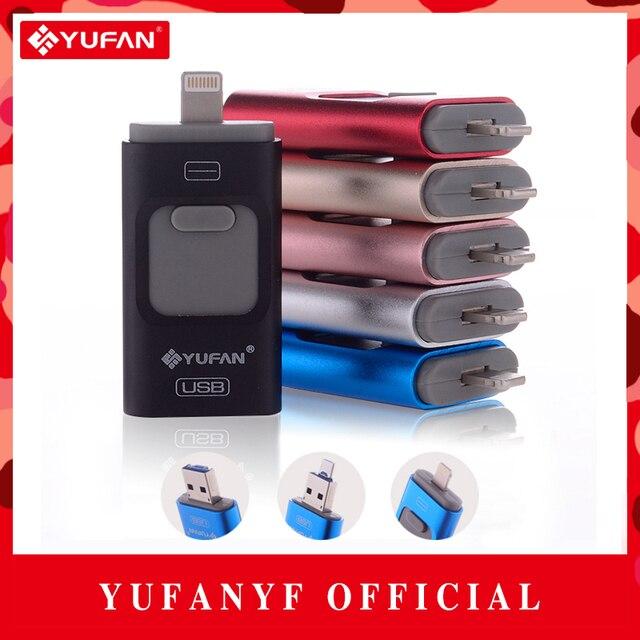 Special offer Phone OTG USB Flash Drive for iphone 6/5 ipad lightning Pen drive 8g 16gb 32gb 64gb iFlash Driver + Micro usb