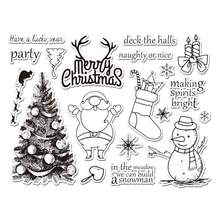 WISHMETYOU Merry Christmas Silicone Clear Stamps Snowman Deer Transparent For Kids Handmade Diy Scrapbooking Album Cards