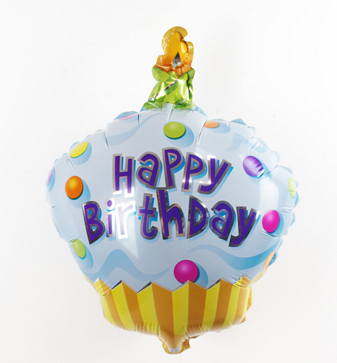 1pcs Birthday Cake Candle Air Balls Helium Foil Balloons Happy Party Decorations Kids In Ballons Accessories