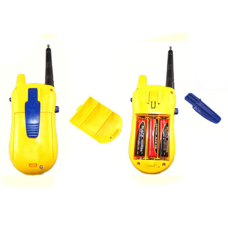 2Pcs Walkie Talkie for Children Electronic Toys Portable Two Way Radio Set