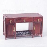 Red wood miniature furniture mahogany pedestal desk mahogany jade ornaments factory wholesale super fine