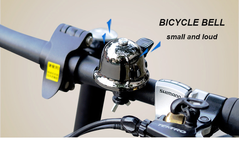 Cycling Bike MTB Bicycle Handlebar Mini Bell Ring Loud Horn Safety Sound Alarm