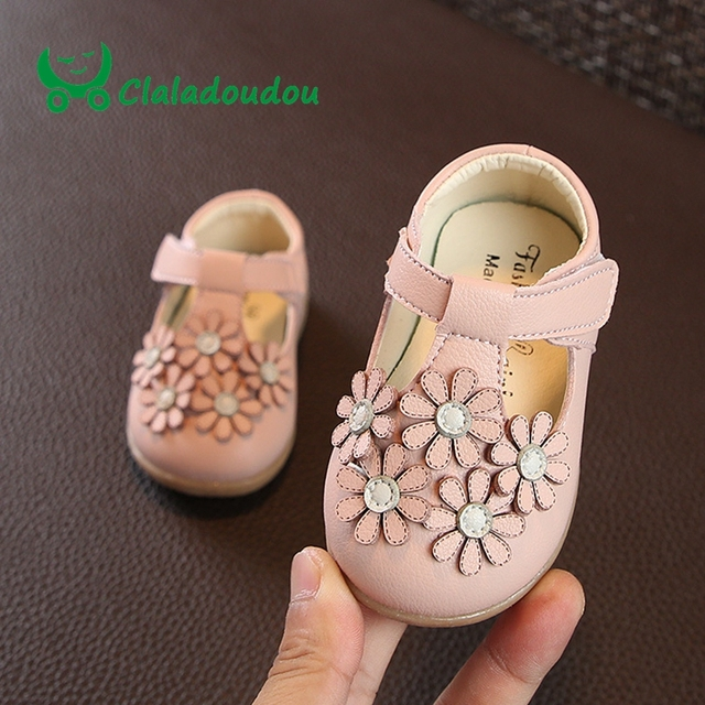 0 2 Years Old Baby Girls Shoes Flower Pink Soft Newborn Cute Birthday Gift Prewalker Toddler Dress Flats