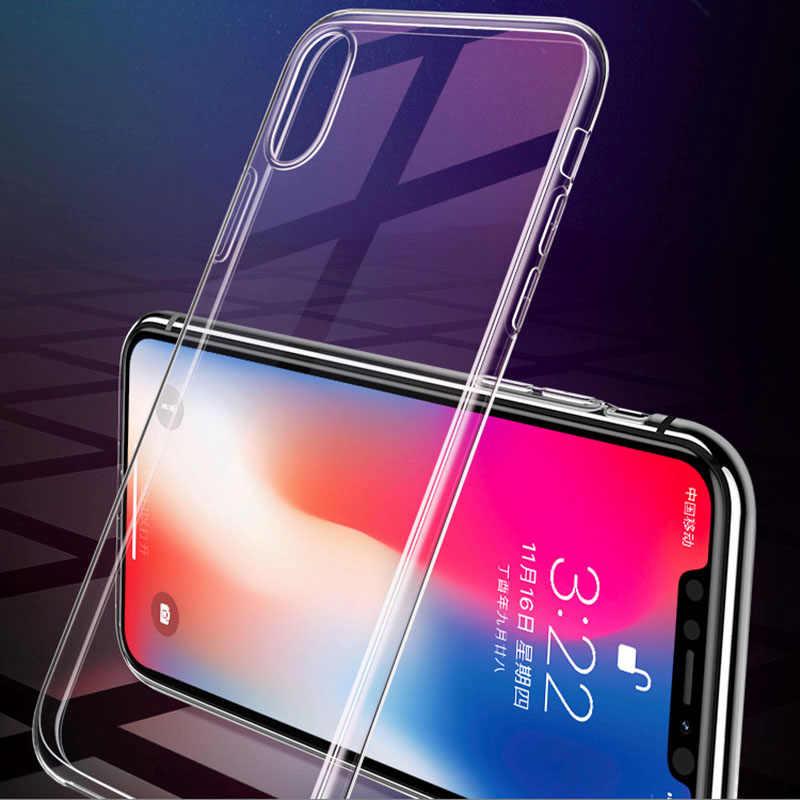 Shockproof Case Belakang untuk iPhone X8 7 Plus 8Plus6 6S PLUS 5 5 S SE Transparan Silikon Lembut TPU case Menutupi UNTUK iPhone XR X Max