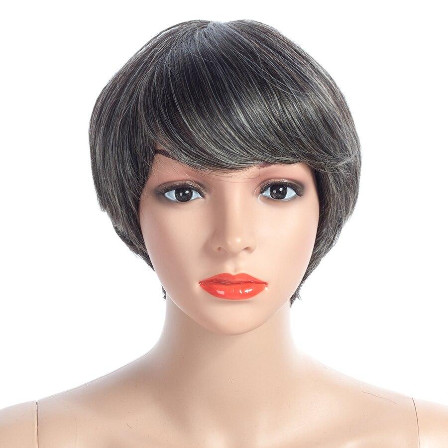NAYOO Bob Wig Mongolian Human Hair Wigs Natural Hair 8 Inches Short Straight Remy Hair Wig Hair Products