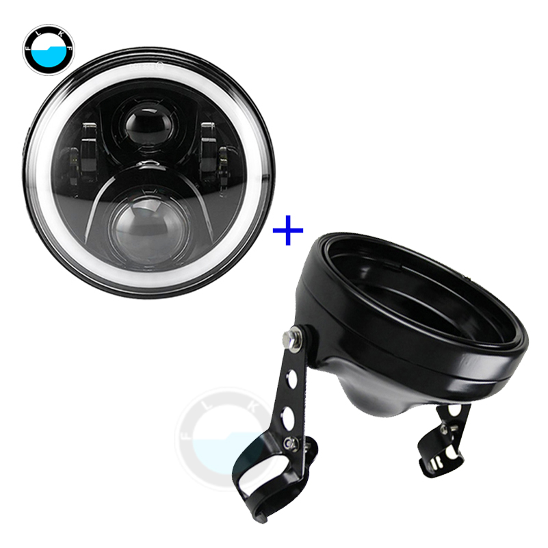 car accessories 7 inch LED Headlight Halo DRL Light for Motorcycles with 7