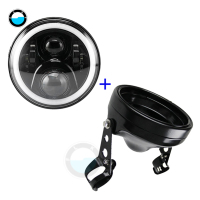 car accessories 7 inch Daymaker Led Headlight for Harley Motorcycles 7Housing mount brackets.