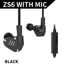 Cheaper KZ ZS6 2DD+2BA Hybrid In Ear Earphone HIFI DJ Monitor Running Sport Earphone Earplug Headset Earbud KZ ZS5 Pro