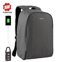 2017 Tigernu Anti-ladrón de carga USB 15.6 pulgadas de ordenador portátil de Negocios mochila mujer Hombre Mochila escolar Mochila Masculina Mochila