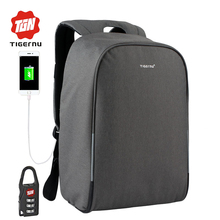 2017 Tigernu Anti thief USB charging 15 6inch Business laptop backpack for women Men Backpack school