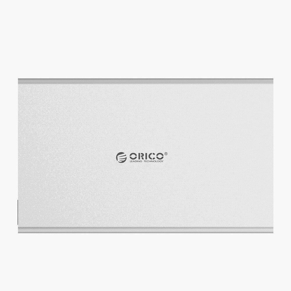 aluminum alloy ORICO 2.5inch SATA to Type-C Aluminum Alloy Hard Drive Enclosure for Mac for Linux for Windows USB3.0 3.1 (2)