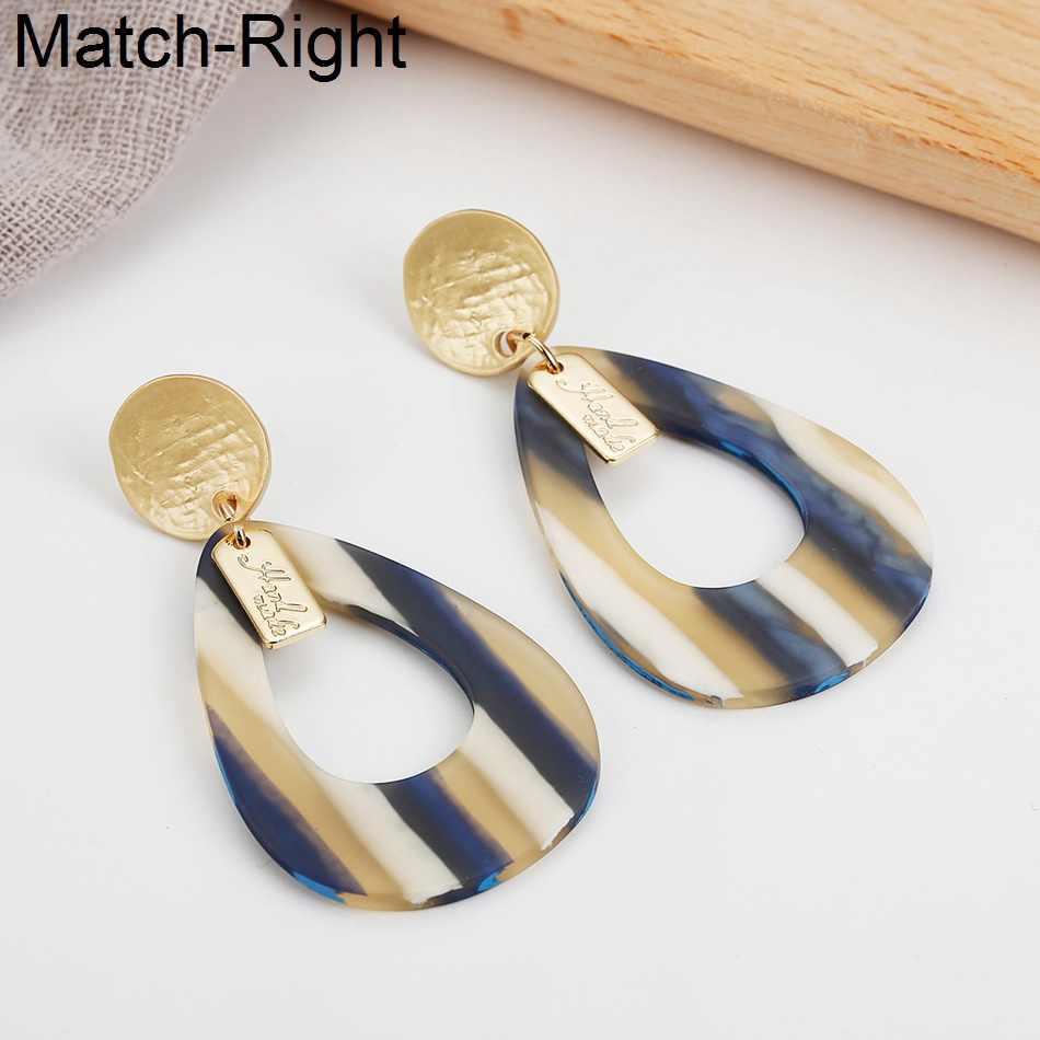 Match-Right Trendy Earrings for Women/Geometric/Long/Dangle/Korean/Acrylic/Big/Drop Earrings Fashion Jewelry female sp620