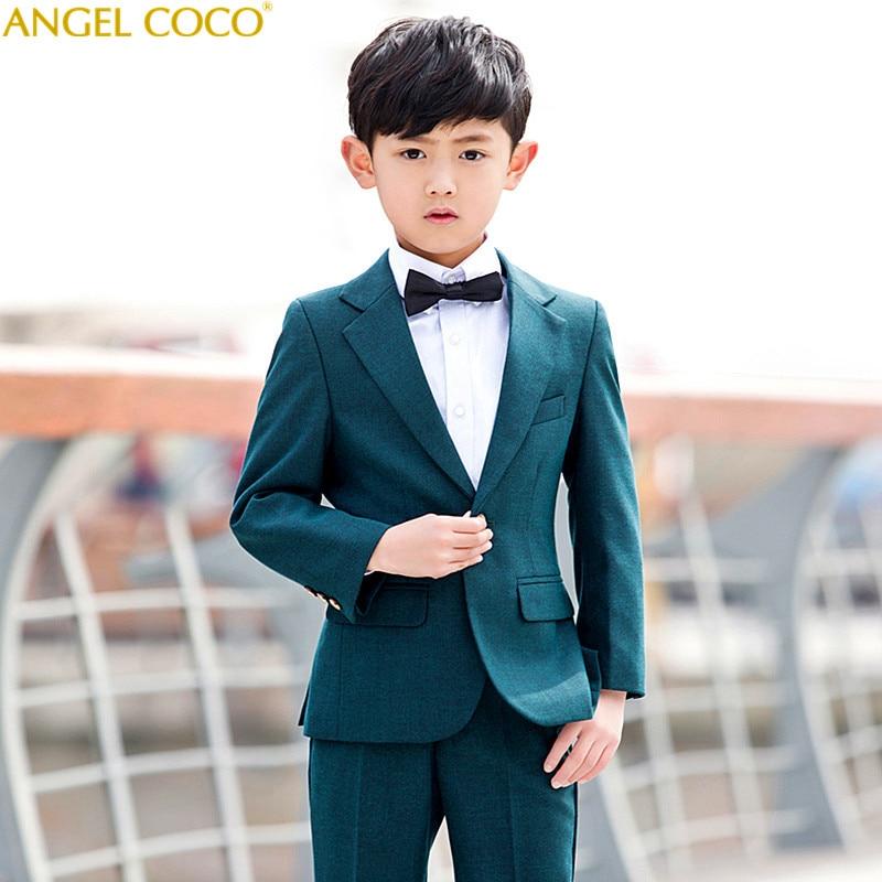 Nimble Boys Suits For Weddings New Arrival Solid Dark Green Boys Wedding Suit Formal Suit For Boy Kids Wedding Suits Blazer Boy цены