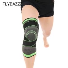 FLYBAZZZ Professional Protective Sport Knee Pad 3D Weaving Adjustable Brace Basketball Tennis Hiking Cycling Support