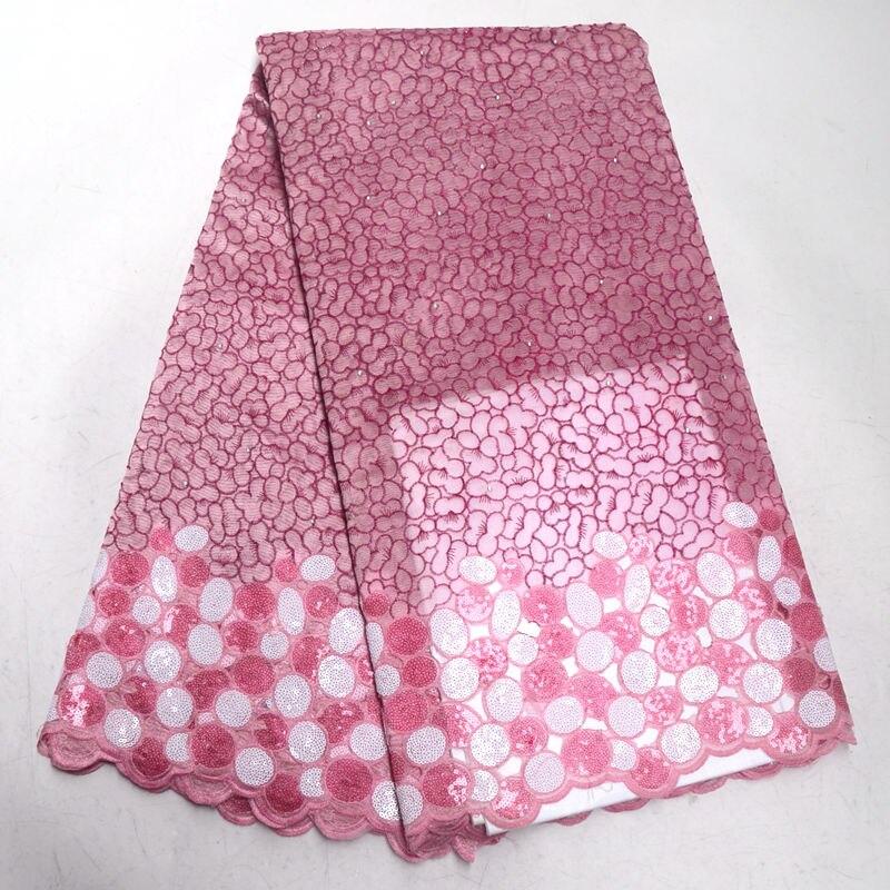 Haute qualité africaine Organza Sequin dentelle tissu vente exceptionnelle rose suisse Double Organza français Net dentelle tissu pour les femmes robe RG024-in Dentelle from Maison & Animalerie    1