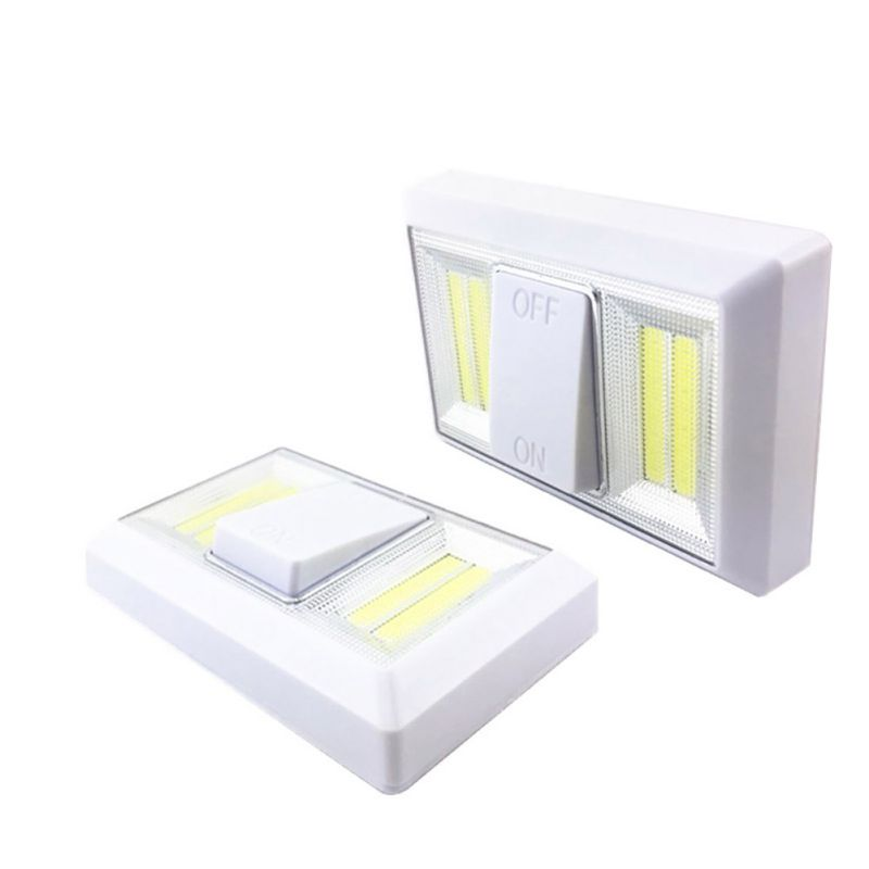 Ultra Bright Mini COB LED Wall Light Switch Night Light Wireless Battery Operated For Garage Bedroom Closetlamp