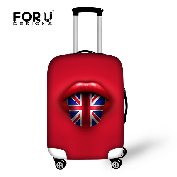 2016 Hot Sale 3D Characteristic Lips Print Luggage Bag Covers 18-30 inch Travel Waterproof Luggage Suitcase Cover Canada Russia ...