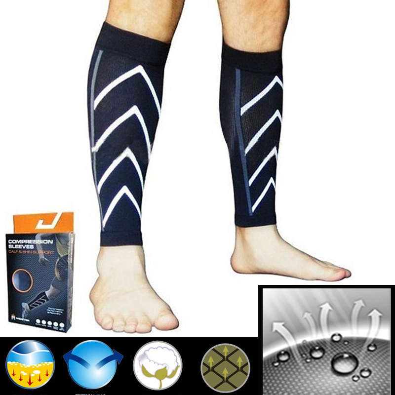Pair Calf Support Compression Leg Sleeve Running Sports Socks Outdoor Exercise Brace Wrap Fitness Sleeve Support Cycling Running