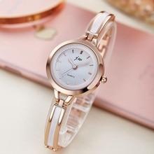 Brazalete de Las Mujeres reloj de cuarzo reloj de pulsera de moda de lujo de cristal de acero inoxidable marca de moda dial redondo reloj de pulsera relogios