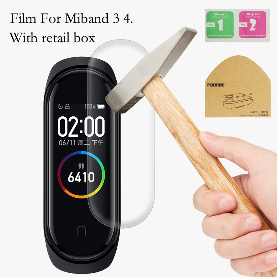 For Xiaomi Mi Band 4 3 Screen Protector Soft Film For Xiaomi Miband 4 3 Smart Bracelet Accessories Full/With Hole Screen Film
