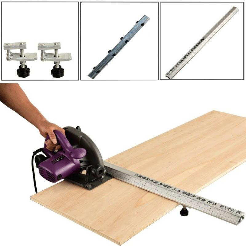 Flip Saw Electric Circular Saw Cutting Machine Guide Foot Ruler Guide 3in 1 45 Degrees Chamfer Fixture Angle Cutting Helper Tool