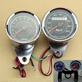 "B86"" Hot Motorcycle Universal Odometer & Tachometer Speedometer Gauge Set + Black Bracket"