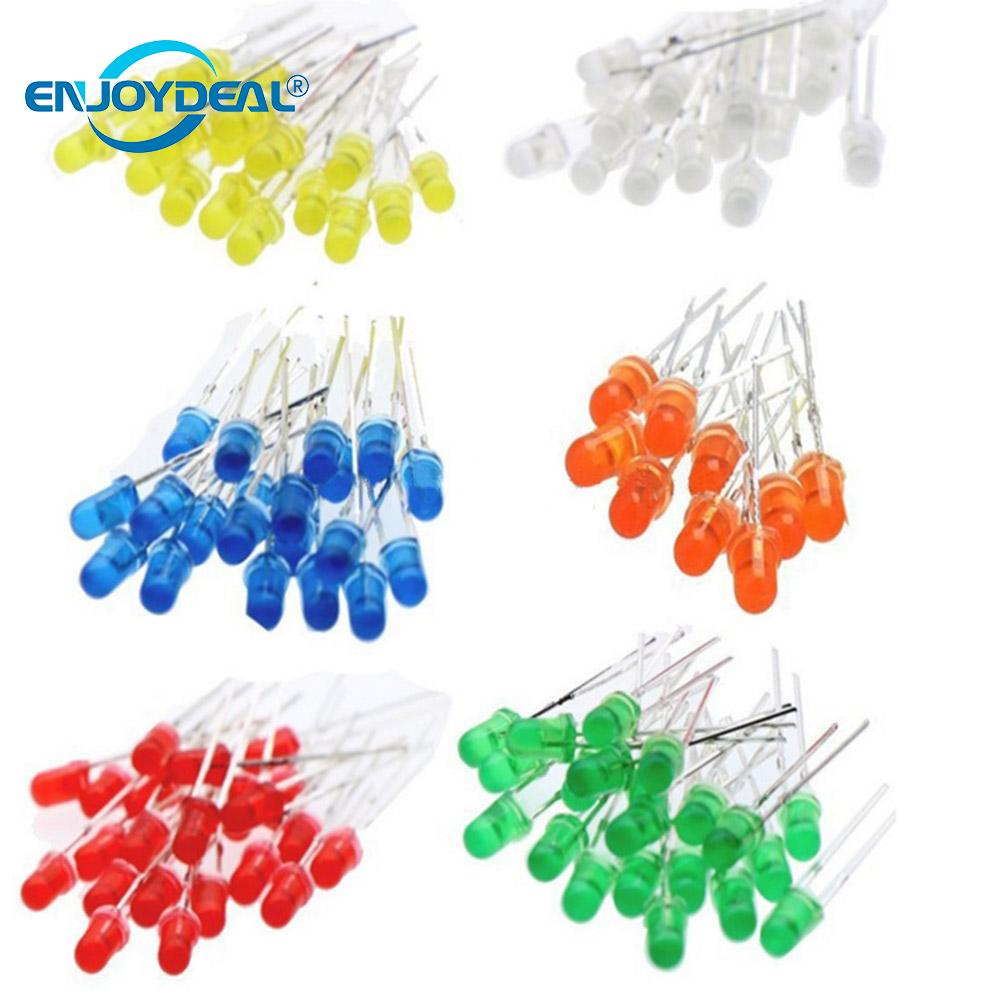 200Pcs 5mm Red Ultra-Bright LED Electronic Light Lamp Emitting Diodes