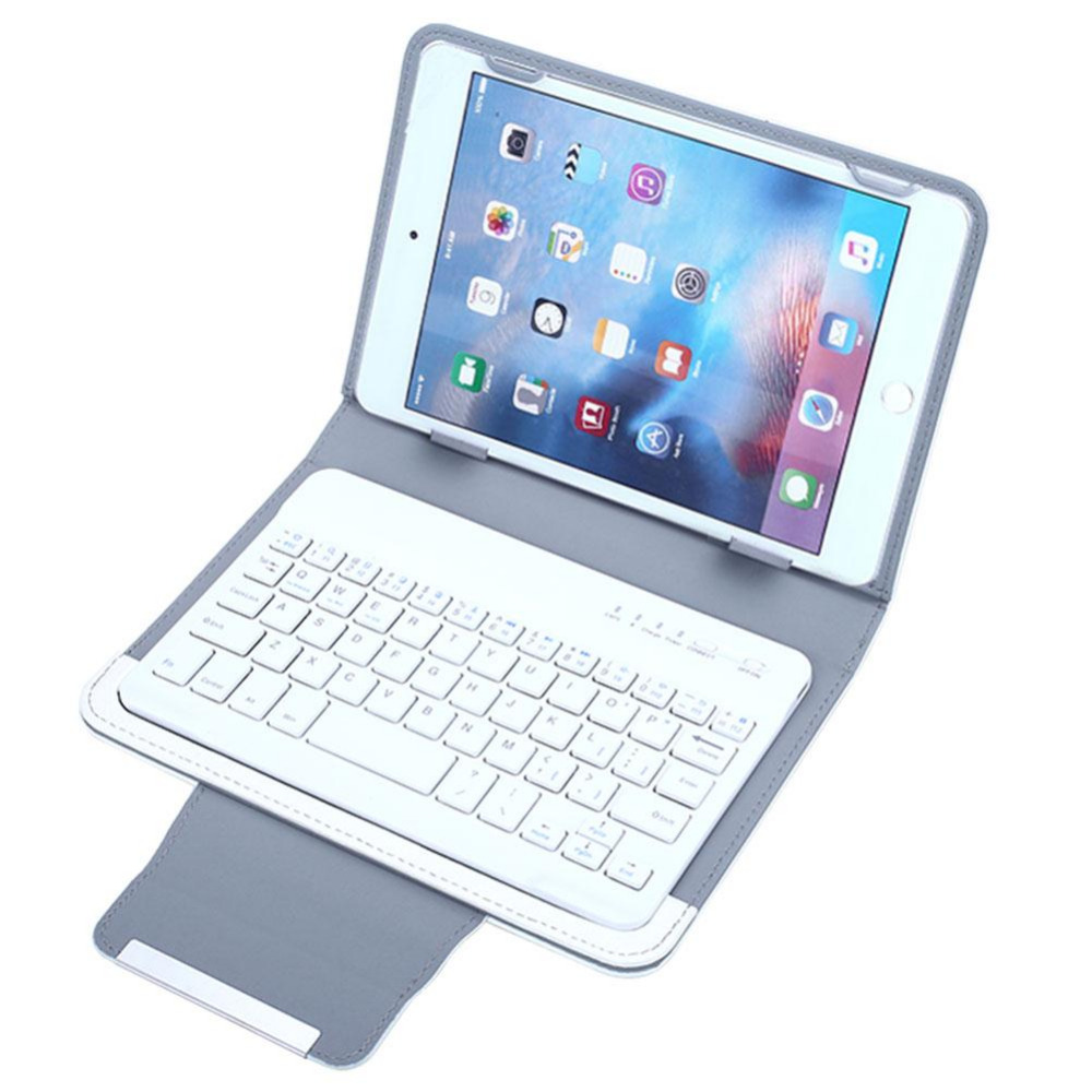 WHITE Universal Smart PU Leather Bluetooth 3.0 Keyboard stand Case For 7 7.9 ipad mini Samsung LG