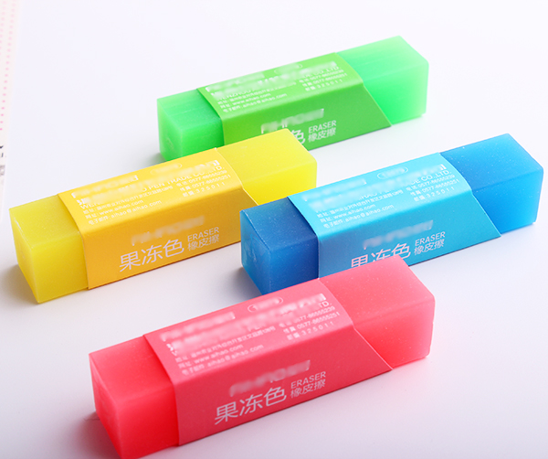 1PC Eraser Jelly Colors Lovely Stationery Rubber Erasers School Student Gift Pencils Supplies (ss-1624)