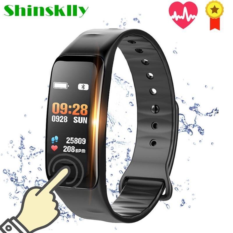 Color Screen Smart Wristband Heart Rate Monitor Fitness Bracelet Waterproof Sport Tracker Pedometer Blood Pressure Oxygen Watch