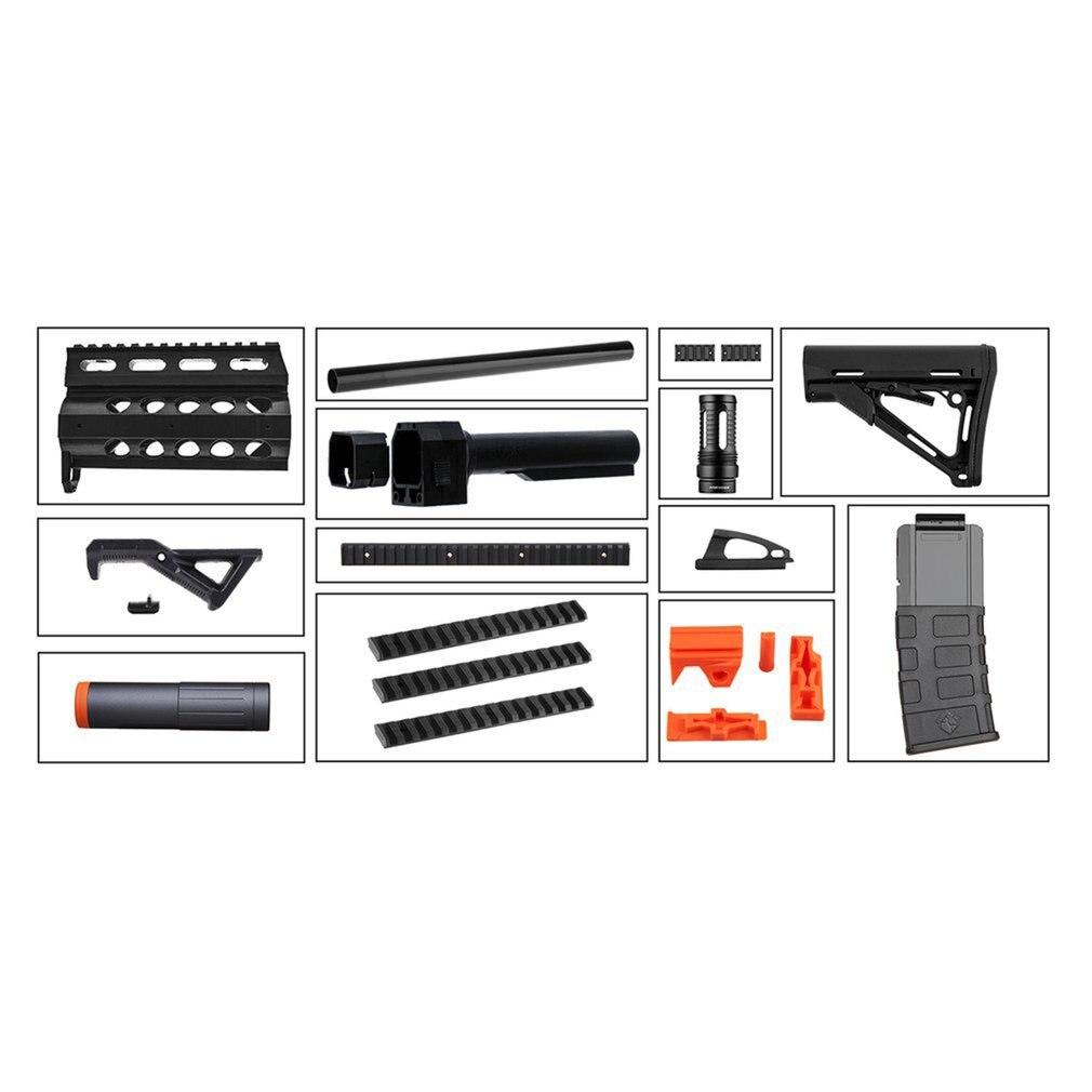 STF-W013 de travail M4 Style Mod Kits ensemble avec adaptateur Orange pour Nerf n-strike Elite Stryfe Blaster jouet pistolet accessoires