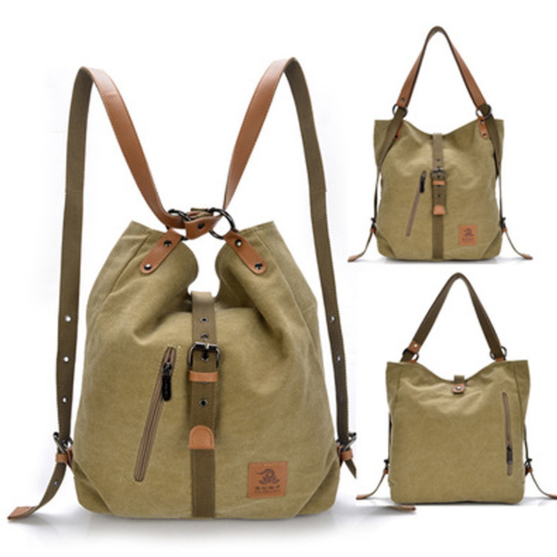 Women s Washed Canvas Handbag Large Capacity Shoulder Bags Female Casual Crossbody Tote Lady Vintage Camel