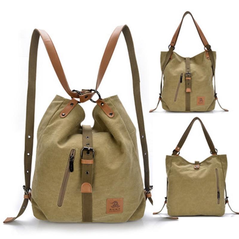 Women s Washed Canvas Handbag Large Capacity Shoulder Bags Female Casual Crossbody Tote Lady Vintage Camel