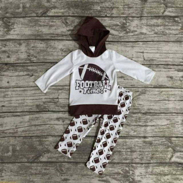 Us 14 09 Kinder Herbst Kleidung Baby Madchen Fooball Kleidung Baby Madchen Hoodie Kleidung Madchen Fussball Zeit Outfits Lange Hose Kleidung In